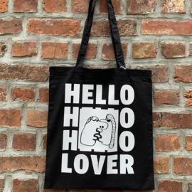 Tote Bag 'Hello Lover' - Zwart