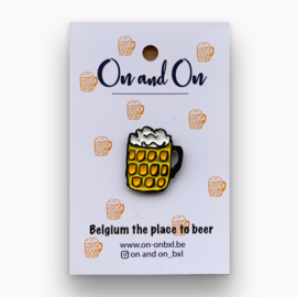 Pin Bier 'Belgium the place to beer'