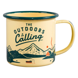 Enamel Mug - Outdoors is Calling - Gentlemen's Hardware