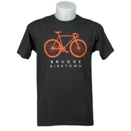 T-shirt Brugge Biketown - Zwart