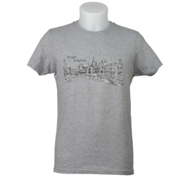 T-shirt Brugge Rozenhoedkaai - Grijs