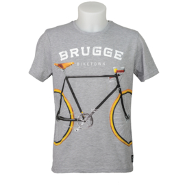 T-shirt Brugge Bike - Grey