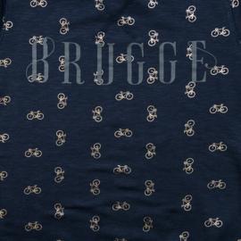 Sweater Dames Brugge fiets - Blauw