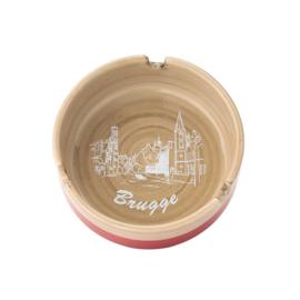 Asbak Brugge - Rood - 3 ontwerpen