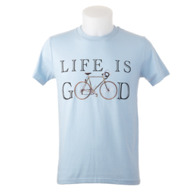 T-shirt 'Life is Good' - Lichtblauw