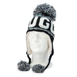 Winter Hat with pompon Brugge - Black