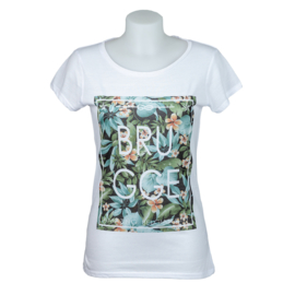 T-shirt Dames Brugge Mediterraan - Wit