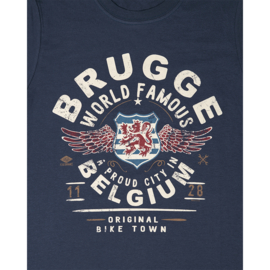 T-shirt Brugge world famous - Blue