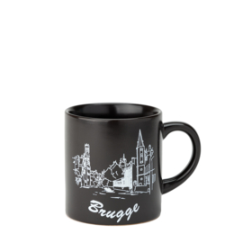 Espresso bag Bruges - Matt Black - 2 designs