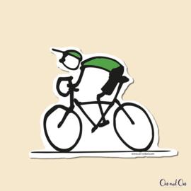 Sticker Cyclist Groen