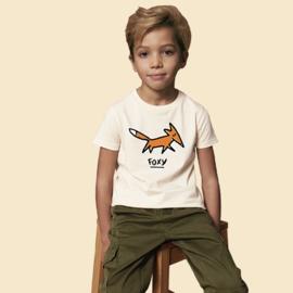 T-Shirt Kids Foxy - Naturel
