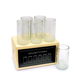 Grote heldere drinkglazen (set van 6) 350ml - IWAS