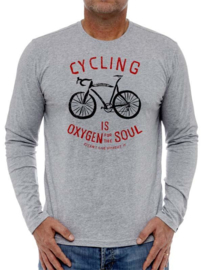 OXYGEN FOR THE SOUL Long Sleeve T-Shirt - Cycology Gear