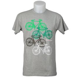 T-shirt Brugge fietsen - Grijs