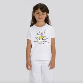 T-Shirt Kids - Girl Power - Wit