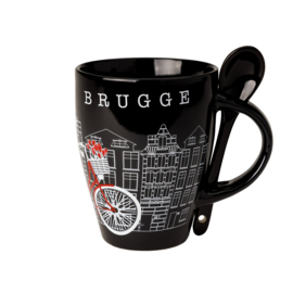 Bruges Cup Bicycle with spoon