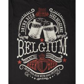T-shirt Bier België - Zwart