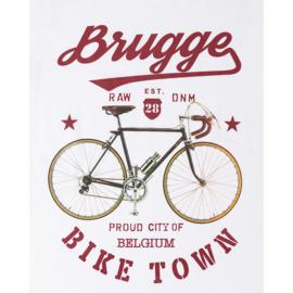 T-shirt Dames Brugge  fiets - Wit