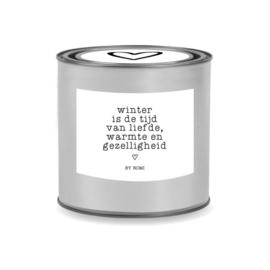 Kaars in blik / Winter is de tijd van liefde, warmte en gezelligheid