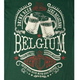 T-shirt Bier België - Groen