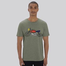 T-Shirt Moto - Kaki