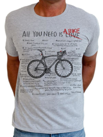 ALL YOU NEED (Grey) T-Shirt - Cycology Gear