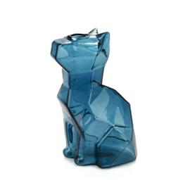 Vaas Sphinx Kat - 15cm - Blauw