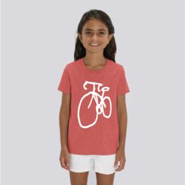T-Shirt Kids Fiets - Rood