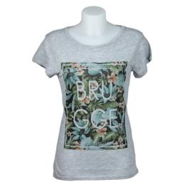 T-shirt Dames Brugge Mediterraan - Grijs