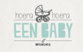 Hoera hoera een baby - Wenskaart - Leuke Kaartjes