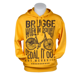 Hooded sweater Brugge Bicycle - Yellow