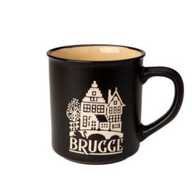 Beker Brugge Retro - Zwart