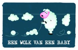Een wolk van een baby - Wenskaart