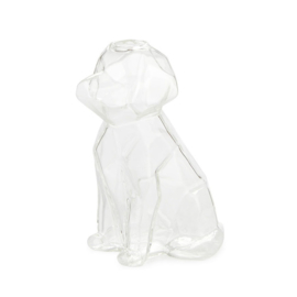 Vaas Sphinx Hond - 15cm - Transparant