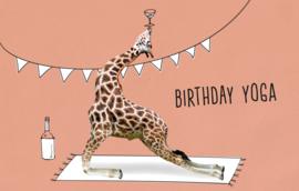 Birthday yoga - Wenskaart - Leuke Kaartjes