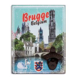 Flesopener aan de muur - Brugge