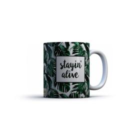 Printed Mug Stayin' Alive