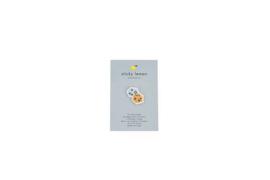 Geborduurde pin - Dobbelstenen  - Sticky Lemon