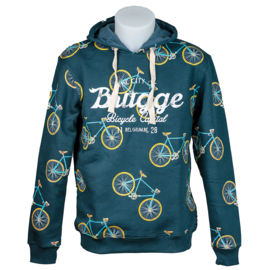Hooded sweater Brugge Bicycles - Petrol
