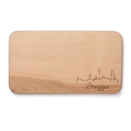 Houten broodplankje Brugge - Skyline