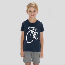 T-Shirt Kids Fiets - Navy