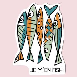 Sticker 'Je m'en fish'