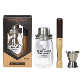 Cocktailset Glas met Muddler - Gentlemen's Hardware