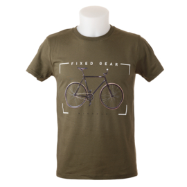 T-shirt 'Fixed Gear' - Kaki