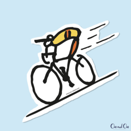 Sticker Cyclist Geel