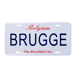 Nummerplaat Brugge - The Beautiful City - Wit