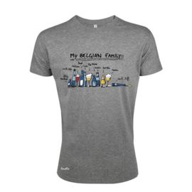 T-Shirt My Belgian Family - Grijs
