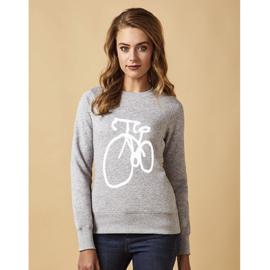 Sweater - Fiets - Grijs