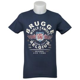 T-shirt Brugge world famous - Blauw
