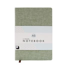 Linen Notebook A5 - Moss - SUCK UK